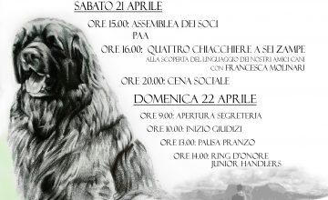 31° Campionato Sociale e Raduno Internazionale del Leonberger, Borgo Priolo 21-22 Aprile 2018
