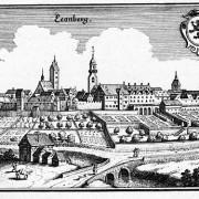 """L'antica Leonberg dove appare il famoso stemma araldico al quale si narra si sia ispirato Essig per """"creare"""" la razza"""